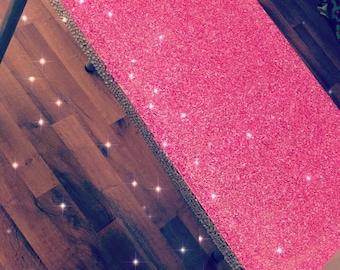 Glitter Vanity Desk Pink