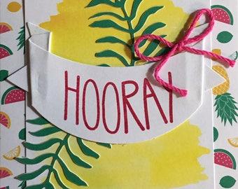 Stampin'Up Handmade Greeting Card: Hooray