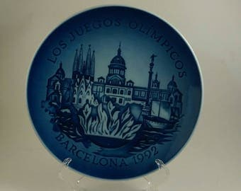 Bing and Grondahl 1992 Barcelona Olympic plate