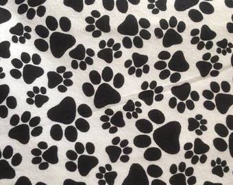 Say I Love You to your pet with a  Paw Print Blanket