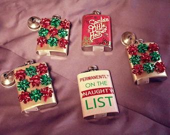 Christmas Themed Flasks