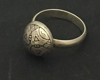 Moroccan Ethnic Sterling Silver Ring