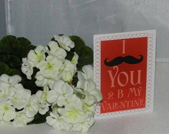 I mustache you valentine card, Funny Valentine Card, Valentines Day Card, Humor Card, I love you card, Valentines Day Card, Greeting Cards