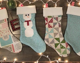 Hand Quilted Christmas Stockings