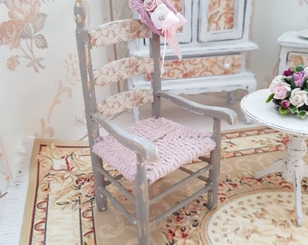 Chair in French shabby chic style