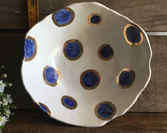 Blue Spot Bowl (Tumbler also available)