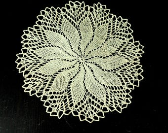 Handmade, handmade, silk handmade knitted round cover, table topper Napkin, tablecloth, decor, decoration, Easter gifts