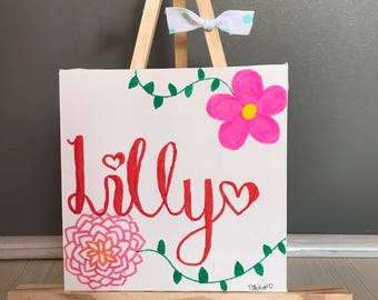 32cm Personalised Canvas and Easel