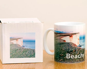 Beachy Lighthouse Mug