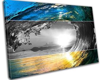 Wave Beach Seaside Canvas Print Home Decor- Abstract Wall Art - Modern Prints - Ready To Hang
