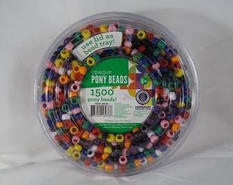 1500 Opaque Pony Beads - Horizon