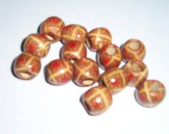 Lot of 14 Wooden Charms - #5