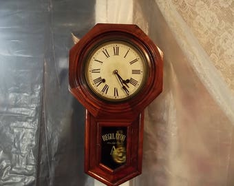 Seikosha / Pony Express Regulator-Clock-Circa 1880-1910- Works!
