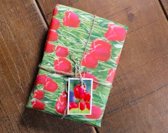 Tulips Eco Wrapping Paper and Gift Tag