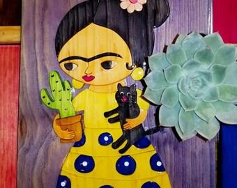 Frida Cat & Cactus