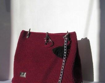 bugundy bag
