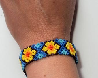Colorful Mexican beads bracelet