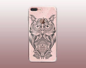 Owl Clear TPU iPhone Case for iPhone 8- iPhone 8 Plus - iPhone X - iPhone 7 Plus-iPhone 7-iPhone 6-iPhone 6S-Samsung S8