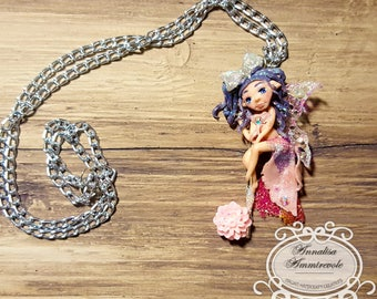 Fairy Pendant, Polymerclay