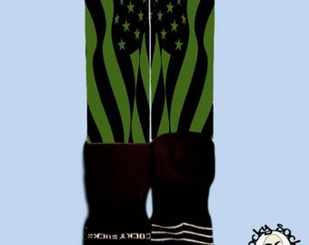 Olive USA Socks || FREE SHIPPING ||
