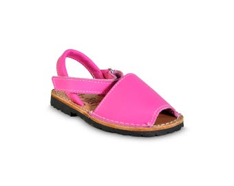 kids avarca sandals - pink- kids sandals, avarcas, espadrilles, kids shoes, menorquinas, sandals, children sandals, espadrilles