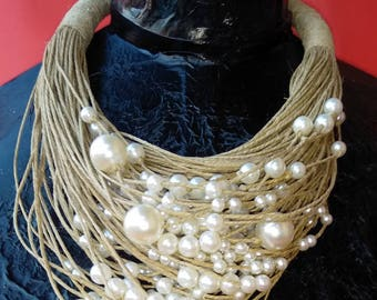 String and pearls Necklace