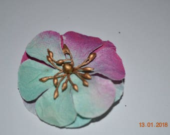Multi Colored Flower Hair Clip