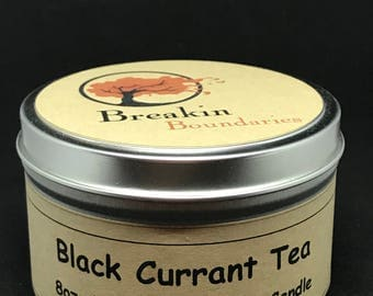 Black Currant Tea - Hand Poured Soy Candles