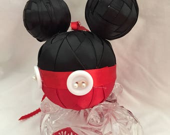 Mickey Quilted ornament