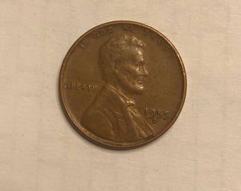 1955 D Wheat Penny