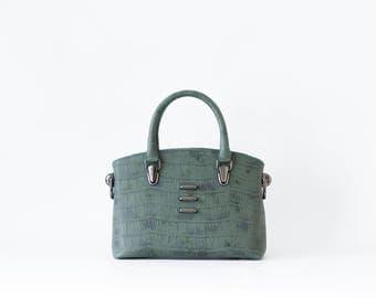 Dear - Structured Handbag -  Color Forest Green