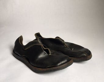 Vintage Black Leather Cydwoq Shoes