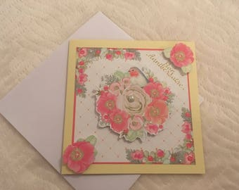 Birthday card with envelope made by hand