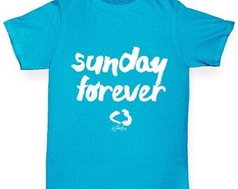 Boys Funny T Shirt Sunday Forever Boy's T-Shirt