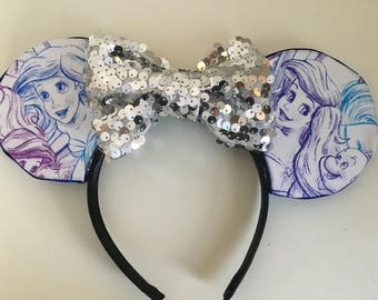 Little Mermaid Minnie Mouse Ears