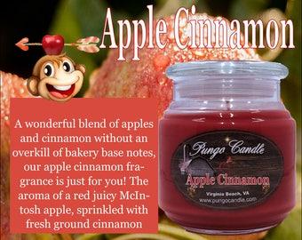 Apple Cinnamon Scented Jar Candle (16 oz.)!