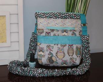 Renee Crossbody Bag, featuring owls, unique strap