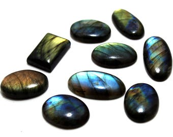 200.35cts Natural Multi flash Labradorite Mix Lot  9 peace  Labradorite loose gemstone amazing & beautifull Labradorite nice flash AA-41