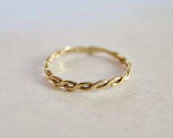Solid 14k Gold Braid