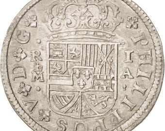 spain real 1726 madrid km #298 au(50-53) silver 2.66