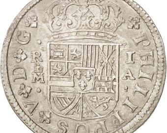 spain real 1726 madrid km #298 au(50-53) silver 2.66