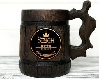 Groomsmen Gift. Personalized Wood Mug. Best Man Gifts. Groomsmen Mugs. Personalized Mug. Custom Beer Steins. Groom Gift. Groomsman Gift #28