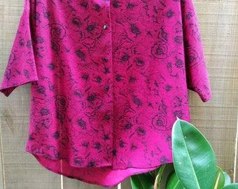 Beautiful rose blouse. 70s/80s