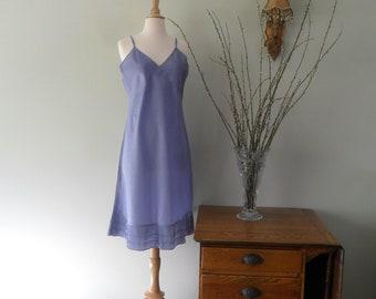 1940s Rayon Taffeta Full Slip in Lavender