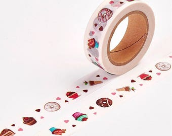 Sweets Washi Tape - 15mm x 10 Meters - #SW122