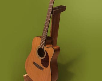 Custom Wood Guitar Stand