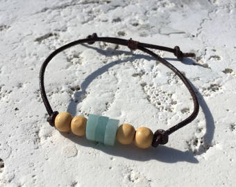 Natural Amazonite Rope Bracelet