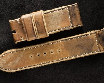 Vintage watchstrap for 24 mm (brown colour) | Brusnitcyn