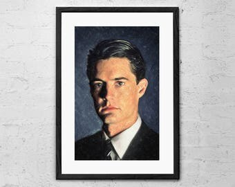 Agent Cooper - Agent Cooper Painting - Dale Cooper - Twin Peaks - Twin Peaks Art Print - David Lynch - Special Agent Dale Cooper - Movie Art