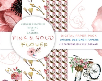 Pink Feather Paper pack